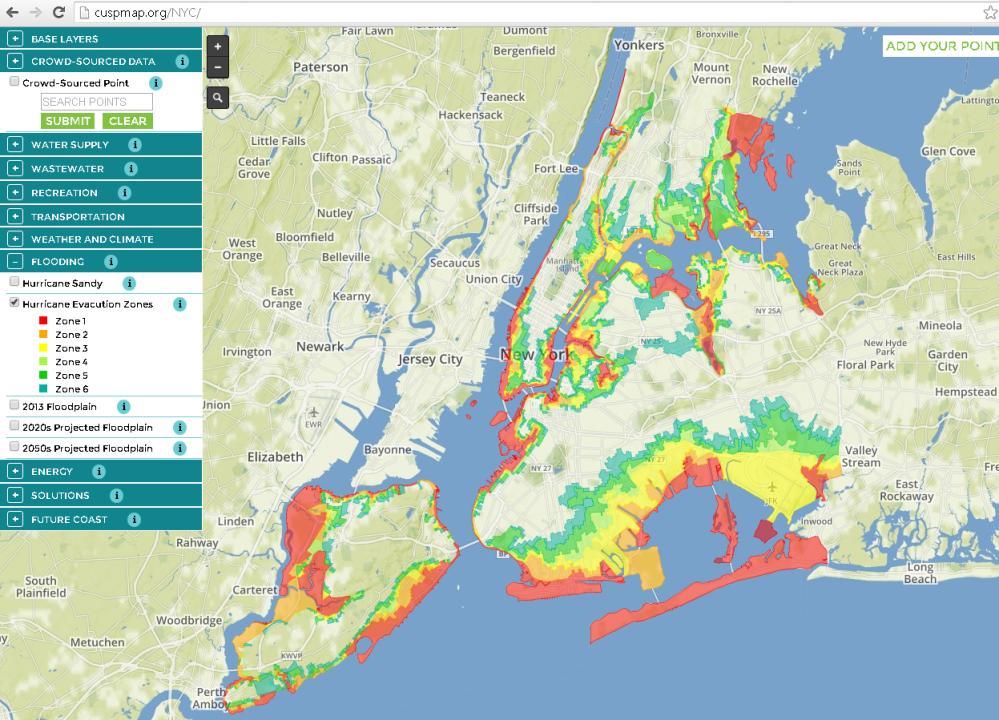 Hurricane Evac Zones